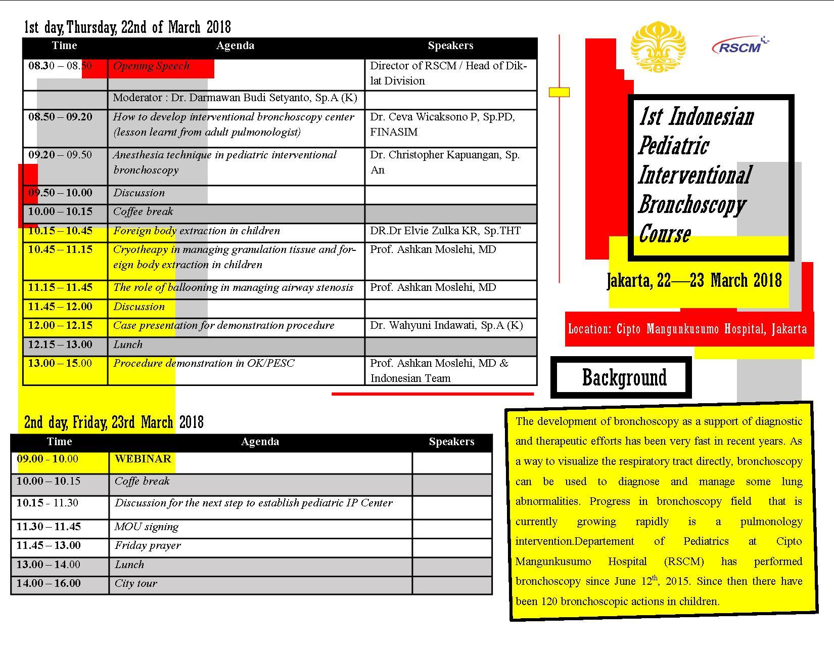 1st Indonesian Pediatric Interventional Bronchoscopy Course